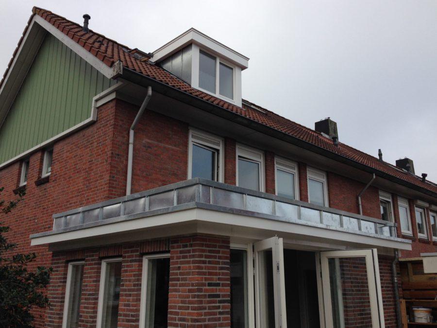 Aanbouw met zinken dakrand - Amsterdam