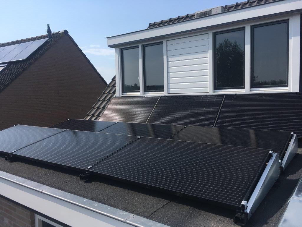 elektra zonnepanelen plaatsen